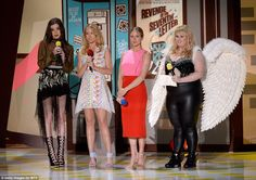 Pitch Perfrect cast: Hailee Steinfeld, Anna Camp, Brittany Snow, and Rebel Wilson took the...