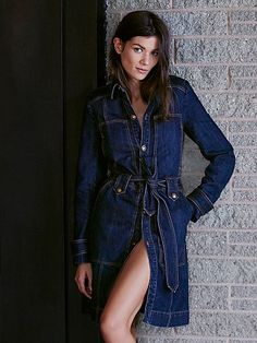 Structured Belted Denim Jacket