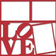 Love Park 12 x 12 Overlay Laser Die Cut
