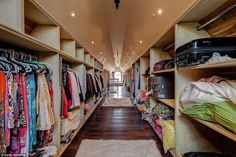 Now that's a closet :: Nick and Vanessa Lachey's New House Could Be Mistaken For a Fairy-Tale Castle