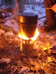 The Coleman Max aluminium cook kit on top of the Solostove woodgas stove.