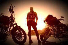 Biker chic. Going West.