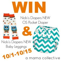 Nicki's Diapers OS Pocket Diaper & Baby Leggings Giveaway - A Mama Collective