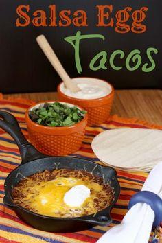 Cool Breakfast | Salsa Egg Tacos | From Jenny Melrose on Google+ | For #backtoschoolweek we've got 30 Minute Meals for you.…