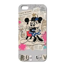 Mickey Mouse True Love cover case skin  Iphone 4 4S 5 5S 5C 6 6+ Free Shipping