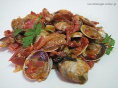 Almejas con Jamón de Serón al jerez...fácil y económico. Receta:http://www.cocinario.es/recetas/chirlas-con-jamon-al-jerez#.U45HWcJKG_8.twitter eljamondeseron.com