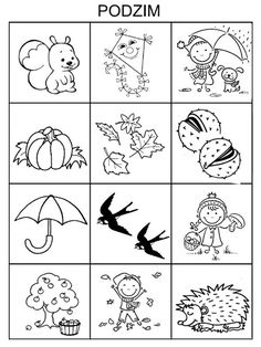 Pro Šíšu: Období PODZIM Indoor Activities For Kids, Autumn Activities, Fall Crafts, Crafts For Kids, Special Education Activities, Fall Games, School Decorations, Autumn Theme, Coloring Pages For Kids