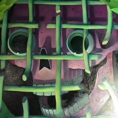 Blab! Show piece! Sneak peek #purple #green #closeup #oilpaint