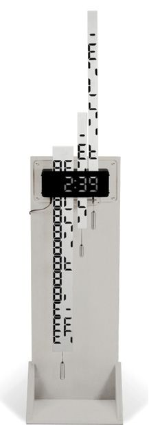 digimech clock - the numbers appear as a strips of card scroll through the display box