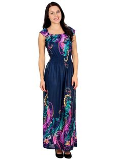 Maxi Dress Silky Long Purple Floral Graphic Print Blue Dress Summer Skirt | Amazon.com
