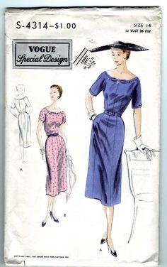 Un pezzo di vestito taglia 14 busto annata 1953 Vogue S-4314 Design speciale cucire modello manca 32 di SewUniqueClassique su Etsy https://www.etsy.com/it/listing/86049153/un-pezzo-di-vestito-taglia-14-busto