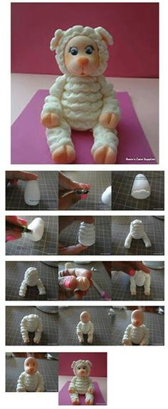 Little Lamb Topper Picture Tutorial