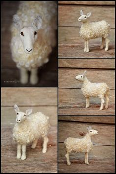 Needle Felted Sheep by Teresa Perleberg of Bear Creek Felting