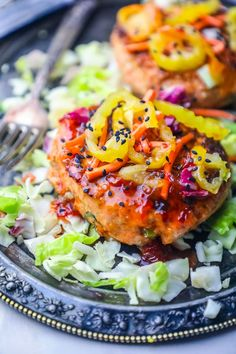 Easy Grilled Sweet Chili Asian Salmon Burgers Recipe