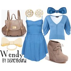 Wendy from Peter Pan.  Simple & cute, blue for her nightgown.