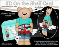 **COMING SOON** -  This Cute Little Teddy Bear with a Toy Bus will be available here within 2 hours - http://www.craftsuprint.com/carol-clarke/?r=380405