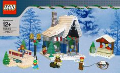 Lego Christmas Sets, Lego Christmas Ornaments, Lego Christmas Village, Lego Winter Village, Christmas Scenery, Christmas Villages, Xmas, Lego Projects, Projects To Try