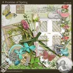 A Promise of Spring Elements by Designs by Helly at Scrapbook Bytes