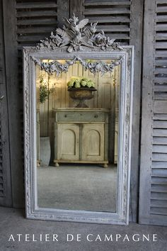 #22/263 Mirror Louis XVI with Garland