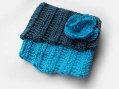 SALE Crochet collarscarf neckwarmerTurquoise by Accessories4women, $22.00