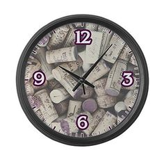 Unique large wall clocks are an easy way to bring life to a boring space. In fact large modern wall clocks areextremely popularright now as not only do theylook timelessbut also serve as large decorative wall art!    Large Wall Clock I love Wine Corks