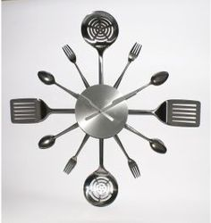 Suzc, i have this and Kirk loved it.  I think he needs one!  Kitchen Utensils Brush Stainless Steel Wall Clock
