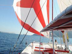 Sailing Oia Santorini