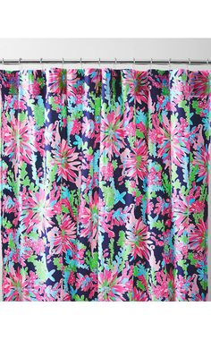 Lilly Pulitzer Sister Florals Shower Curtain First Impression Hotty Pink Contemporary Curtains