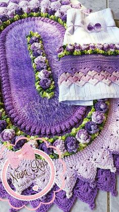 Crochet Baby, Free Crochet, Birthday Wishes For Son, Laundry In Bathroom, Bathroom Blinds, Fire Pit Landscaping, All Things Purple, Towel Set, Crochet Doilies