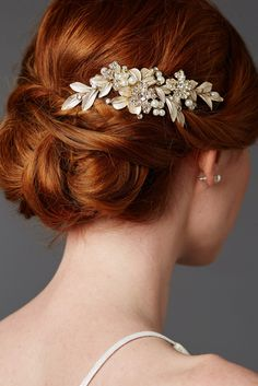 Annabelle Gold Leaf Bridal Hair Comb by Olivier Laudus - Find Your Dream Dress