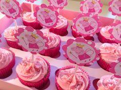 Cupcakes Peppa Pig. Peppa Pig cupcakes.