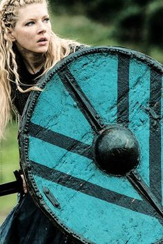 Lagertha Vikings -A Shieldmaiden was a woman who had chosen to fight as a warrior in Scandinavian folklore and mythology. They are often mentioned in sagas such as Hervarar saga and in Gesta Danorum. Shieldmaidens also appear in stories of other Germanic nations: Goths, Cimbri, and Marcomanni.The mythical Valkyries may have been based on the shieldmaidens.