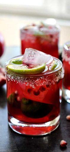 Pomegranate Margaritas . . .