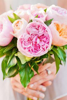pink hand bouquet