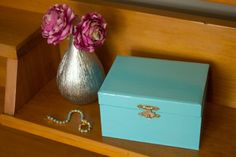 jewellery box makeover http://www.atypicaltypea.com/2013/06/20/jewellery-box-makeover/
