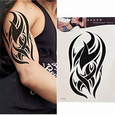 Tribal Shoulder Tattoos, Tribal Arm Tattoos, Mens Shoulder Tattoo, Star Tattoos, Body Art Tattoos, Maori Tattoo Designs, Tattoo Sleeve Designs, Sleeve Tattoos, Temporary Tattoo Sleeves
