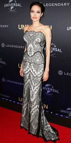Look of the Day - November 17, 2014 - Angelina Jolie in Gucci Premiere from #InStyle