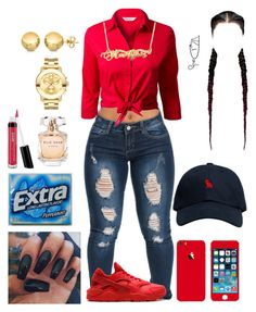 """THANKSGIVING❤️"" by curlss-wavyy-sexy on Polyvore featuring NIKE, October's Very Own, EAST, Elie Saab, Bare Escentuals, Movado and Sevil Designs"