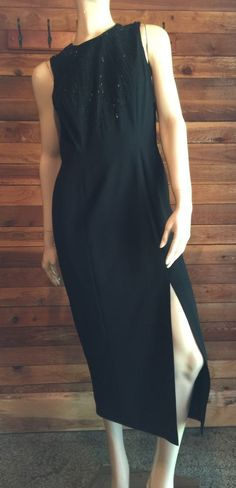 NWT MARIANNA BLACK SIZE 6 DRESS with BEADED YOKE #MARIANNA #Sheath #Cocktail