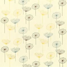 Shop for Wallpaper at Style Library: Dandelion Clocks by Sanderson. A fun and funky retro design, this is one of Sandersons best ever selling fabric. Dandelion Wallpaper, Clock Wallpaper, Dandelion Clock, Fabric Wallpaper, Horse Clip Art, Sanderson Fabric, Made To Measure Blinds, Painted Rug, Fashion Wallpaper