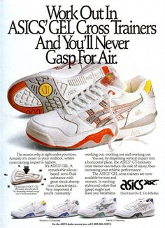 Vintage Ad: Asics Cross Trainers | Sole Collector