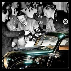 Today in WW2 history: 2/26/1936 Adolf opens 1st VW plant in Germany w/ Ferdinand Porsche. Hitler was so taken with Porsche's 1934 Volkswagen (people's car) Beetle design that he called the engineer 'brilliant'. Both Hitler & Stalin vied for Porsche's favor and service. The new plant built near the castle Wolfsburg would only produce 630 of the cars during World War Two - all of which were distributed to the privileged.