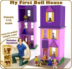My First Doll House Full-Size Wood Toy Plan Set