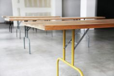 metal folding legs with wood table top