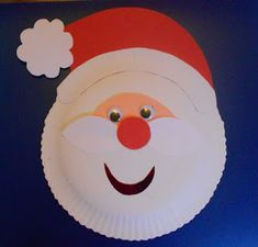 Easy Santa make   He's cheap and easy to make, one paper plate santa! An easy make for preschool children.All you need is a pape...