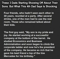 These 3 Dads Started Showing Off About Their Sons. But What the 4th Dad Says is Shocking. - http://fumy.in/rm