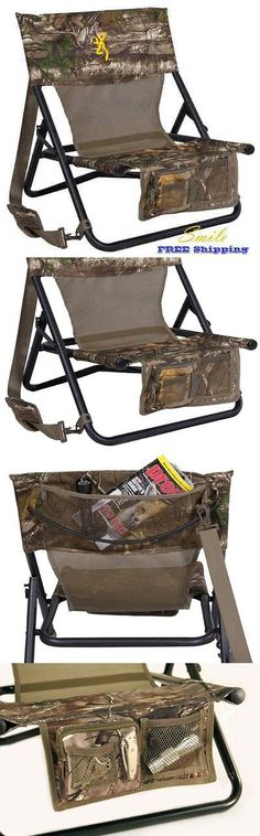 Seats and Chairs 52507: Hunter Chair Pocket Back Turkey Predator Hunting Seat Blind Browning Camping New -> BUY IT NOW ONLY: $57.97 on eBay!
