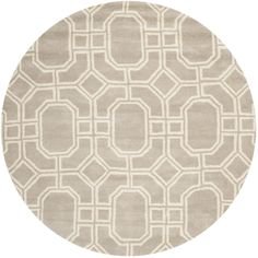 Safavieh Hand-made Soho Grey/ Ivory Wool Rug (6' Round) - Overstock™ $235.