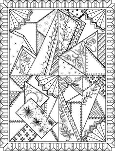 Welcome to Dover Publications Creative Haven Patchwork Quilt Designs Coloring Book