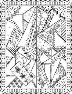Patchwork Quilt Designs Coloring Book